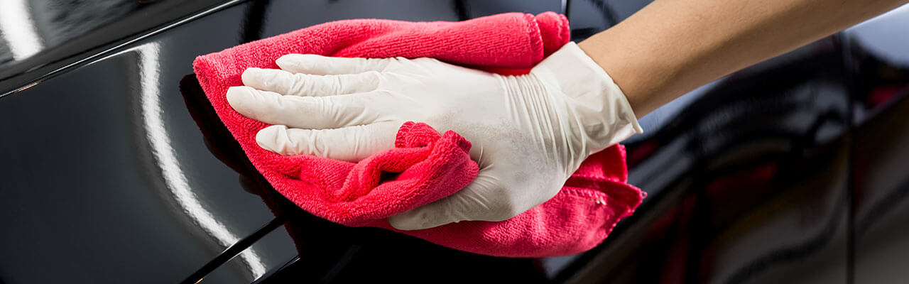 Cleaning Cloth on Car Surface